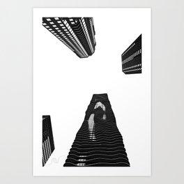Aqua Tower Art Print