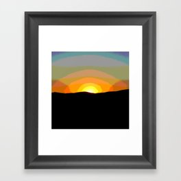 Sunset desert sahara Framed Art Print