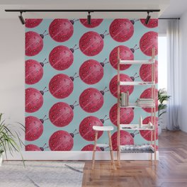 Spherical Abstract Watercolor Ladybug Wall Mural