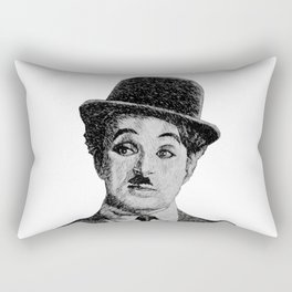Chaplin portrait - Fingerprint Rectangular Pillow