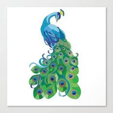 Peacock illustration Canvas Print