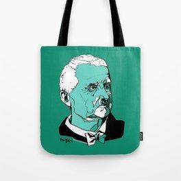 Anton Bruckner Composer contemporary of Wagner Brahms Mahler Ink Portrait Music Organ Art Tote Bag