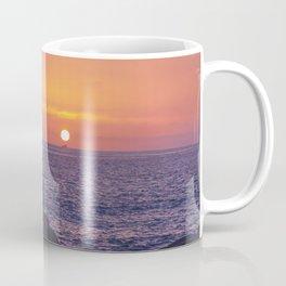Man Enjoying Sunset Coffee Mug