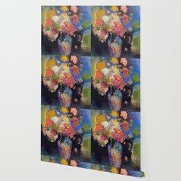 "Odilon Redon ""Vase de Marie Botkin"" Wallpaper"