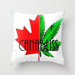 CannaBliss Throw Pillow