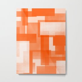 Modern Abstract No. 23 | Orange Metal Print
