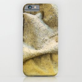Worn Old Duster Cloth Close Up iPhone Case