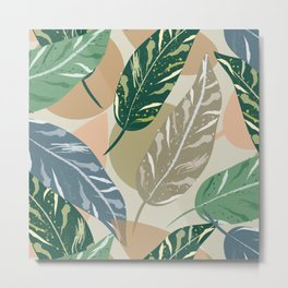 Shell Ginger Leaves Metal Print