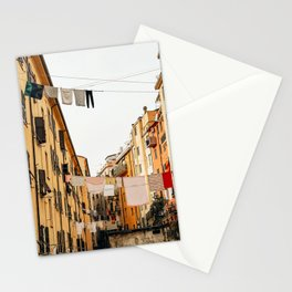 urban street in italy Stationery Cards