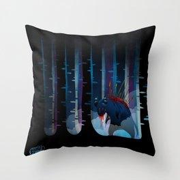 The monster Throw Pillow