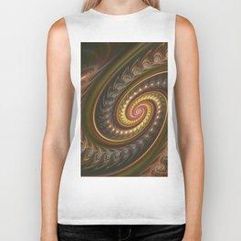 Spirals in a spiral, fractal abstract Biker Tank