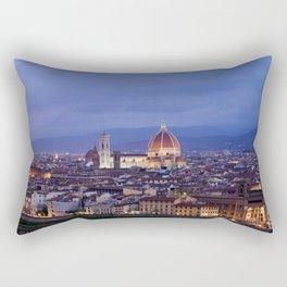 Florence Duomo At Night Rectangular Pillow