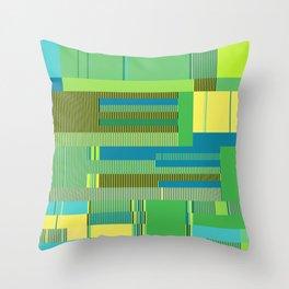 Scandinavian Moon (Parrot Colours) Throw Pillow