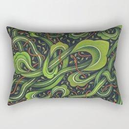 Asian Green Drapes Rectangular Pillow