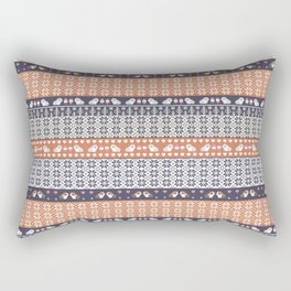 Fair Isle Christmas Guinea pig Pattern Rectangular Pillow