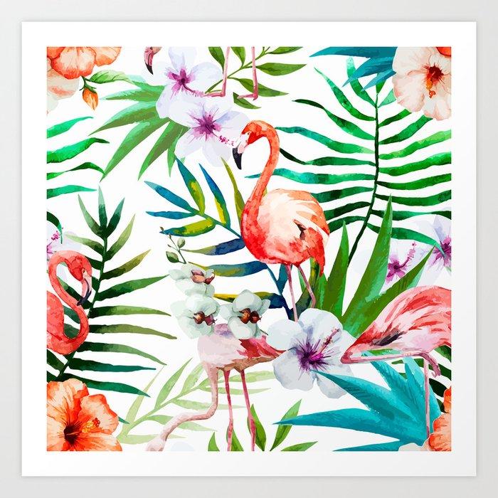 Tropical Flamingo Kunstdrucke