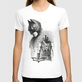 Bat In Black (The Dark Knight Rises) T-shirt