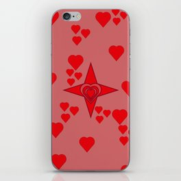 Red hearts iPhone Skin