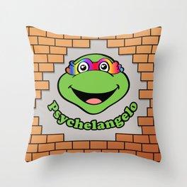 Psychelangelo - The Lost Ninja Turtle Throw Pillow