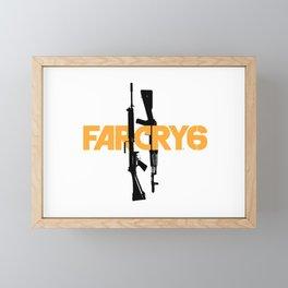 Far Cry 6 Logo & Rifles Framed Mini Art Print