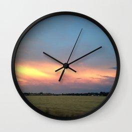 Rural Warmth Wall Clock
