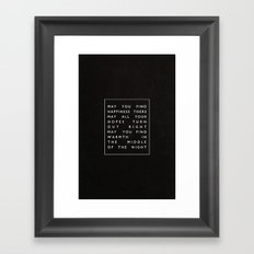 II. Find Happiness Framed Art Print