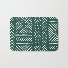 Line Mud Cloth // Brunswick Green Bath Mat