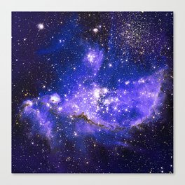 Infant Stars in Neighbouring Galaxy Canvas Print