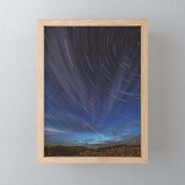 Star Trails Framed Mini Art Print