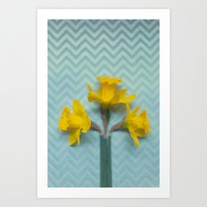 Trio Yellow Art Print