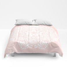 Mandala Mermaid Sea Pink by Nature Magick Comforters