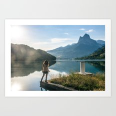 esas montañas vacías como promesa de un todo Art Print