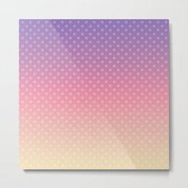 Lilac pink yellow Ombre . Metal Print