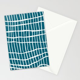 Net White on Blue Stationery Cards