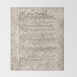 US Constitution - United States Bill of Rights Throw Blanket
