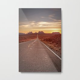 The Way West Monument Valley Arizona Sunset American West Landscape Metal Print