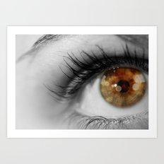 Twinkle In Her Eye Art Print