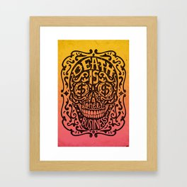 Death is a Lonely Business Framed Art Print