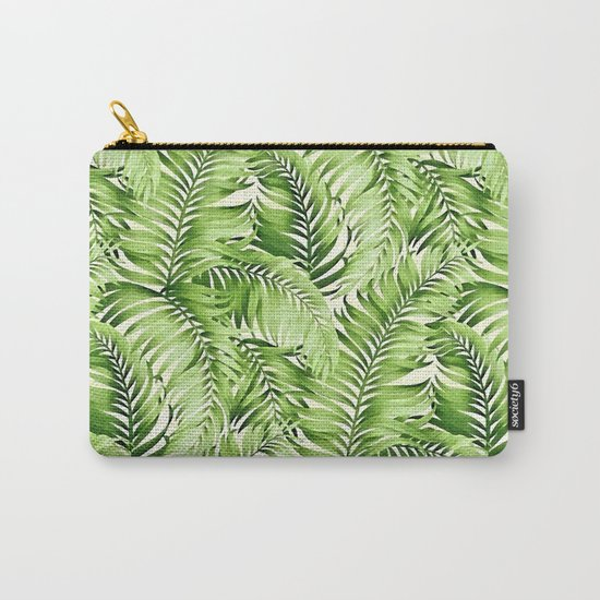 Greenery palm leaves Carry-All Pouch