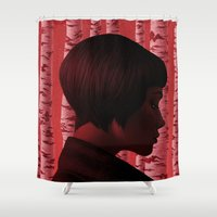 camus Shower Curtains featuring Byronic IV by Boris Pelcer
