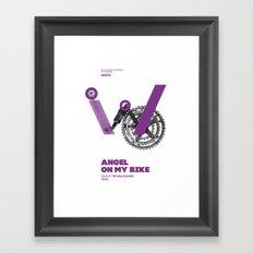 Bike to Life - AngelonmyBike Framed Art Print