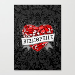 Bibliophile Heart Canvas Print