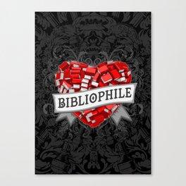 Bibliophile Heart Canvas Print