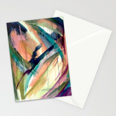 Brave -  a colorful acrylic and oil painting Stationery Cards
