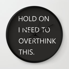 Hold On Typography Wall Clock