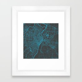 Saint Louis Map Framed Art Print