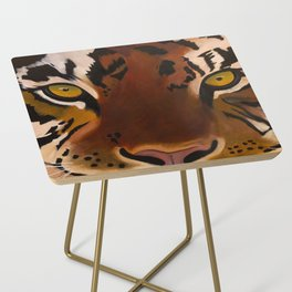Bengal Tiger Portrait Side Table