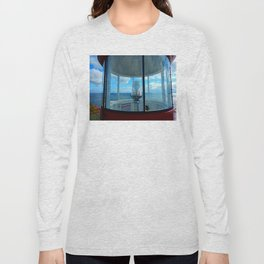 Lighthouse and Sea Beyond, seen from the Balcony Long Sleeve T-shirt