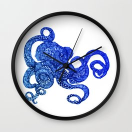 Ombre Octopus Wall Clock