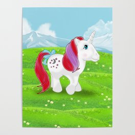 g1 my little pony Moondancer Poster